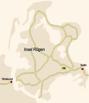 Lageplan Insel Usedom